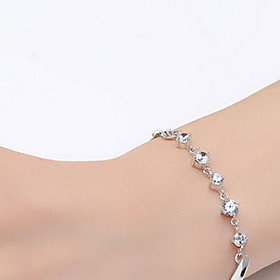 Chain Bracelet Sterling Silver Zircon Cubic Zirconia Fashion Jewelry Silver Jewelry 1pc