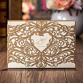 Wrap Pocket Wedding Invitations 50 - Invitation Cards Classic Style Card Paper
