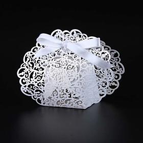 50pcs/lots Laser cut cut lace wedding favor box candy box party gift box 5535741