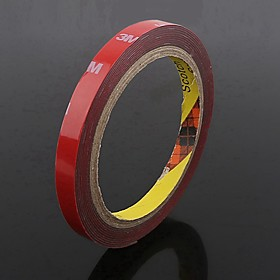 ZIQIAO Car Styling 10mm Car Truck 3M Tape Double-sided Acrylic Foam Adhesive Tape Automotive 3 Meters Long