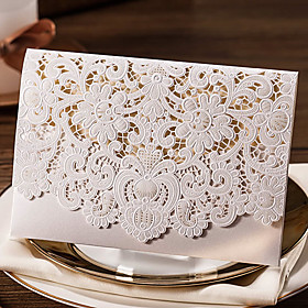 Wrap Pocket Wedding Invitations 10 - Others Invitation Cards Classic Material Card Paper Flower