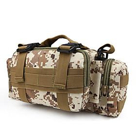 6 L Waist Bag / Waistpack / Sling  Messenger Bag / Shoulder Bag - Multifunctional Outdoor Camping / Hiking Oxford Three Sand Color, Digital Desert, Mud Color