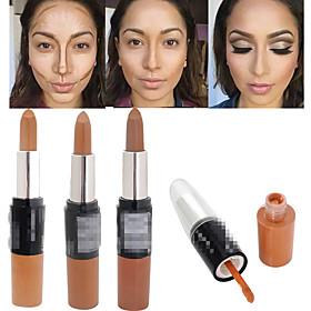 1Pcs Bronzer 3D Makeup Highlight Contour Cream Stick Dark Color Long Lasting Contouring Foundation Face Concealer Liquid Pen