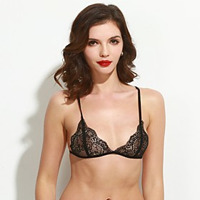 Women's Sexy Thin 3/4 cup Bras,Lace Bras / Padless Bra Lace 5159668