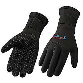 Bluedive Diving Gloves 3mm Nylon / Neoprene Full finger Gloves Keep Warm, Wearproof, Multifunctional Diving / Boating / Kayaking
