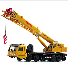 Crane Toy Truck Construction Vehicle Toy Car 1:50 Retractable Metalic Plastic ABS 1 pcs Kid's Boys' Girls' Toy Gift