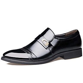Men's Formal Shoes Leather Spring / Fall Business / Comfort Oxfords Waterproof Black / Brown / Party  Evening / Leather Shoes
