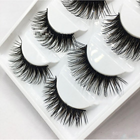 5 Pairs Women Lady New Natural Soft Eye Lashes Makeup Handmade Thick Fake False Eyelashes Tools