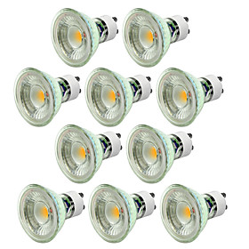 10pcs 5W 550 650lm GU10 LED Spotlight 1 LED Beads COB Dimmable Decorative Warm White Cold White 220 240V
