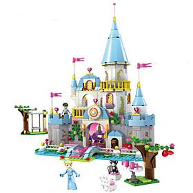 Building Block Cinderella Romantic Castle Princess Friend Blocks Minifigure Bricks Girl Sets Kids Toy 4821715