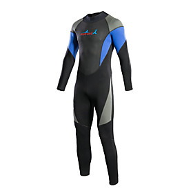 Bluedive Women's Men's 3mm Full Wetsuit Thermal / Warm Quick Dry YKK Zipper Compression Full Body Nylon Neoprene Diving Suit Long Sleeve 5544725