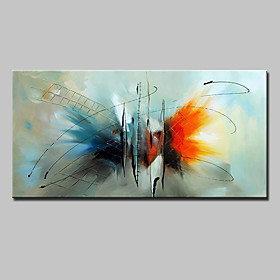 Hand-Painted Abstract Horizontal, European Style Modern Canvas Oil Painting Home Decoration One Panel 5544307
