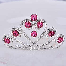 Girls Lovely Fashionable Europe And The United States Han Edition Big Diamond Crown Princess Hair Comb 5576649