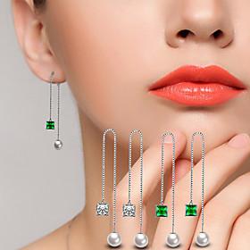 AAA Cubic Zirconia Drop Earrings Ball Earrings Jewelry Wedding Party Alloy C..