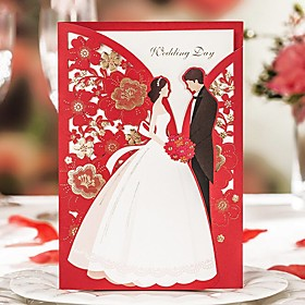 Wrap Pocket Wedding Invitations 20 Printing Card Paper Pattern / Print