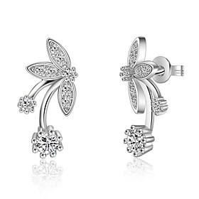 925 Imitation Diamond Stud Earrings Clip Earrings Earrings Set Jewelry Party..