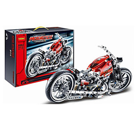 Image of Building Blocks For Gift Building Blocks Model Building Toy Motorcycle Plastic 2 to 4 Years 5 to 7 Years 8 to 13 Years 14 Years Up