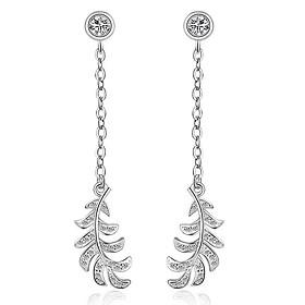 925 Imitation Diamond Drop Earrings Dangle Earrings Jewelry Wedding Party Da..