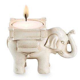 Resin Lucky Elephant Candy Holder / Place Card Holder / Candle Holder Party dcor Beter Gifts Life Style 5624562