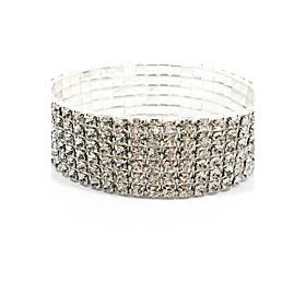 Women's Elastic Rhinestone Bridal Jewelry Bracelet