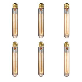 Ecolight™ 6pcs 40w E26/e27 T185 2300 K Incandescente Vintage Edison Lampadina Ca 220 240 V V