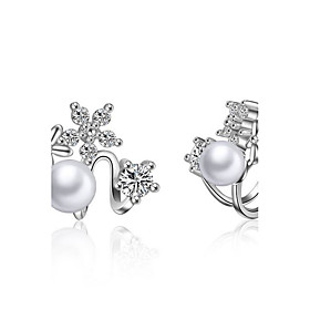 925 Imitation Pearl Drop Earrings Earrings Set Dangle Earrings Jewelry Weddi..