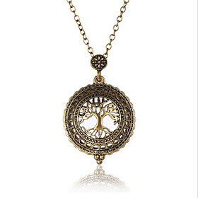 Statement Necklaces Jewelry Tree of Life Glass Alloy Basic Punk Adjustable H..