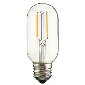 T45 2W E27 Led Filament Light Warm/Cool White Edison Lamp Retro Vinlage Tubular Light AC220-240V