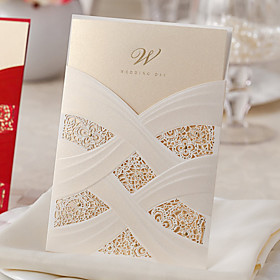 Wrap Pocket Wedding Invitations 20 - Others Invitation Cards Classic Material Card Paper Flower