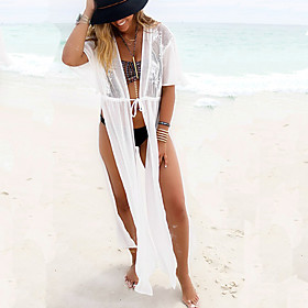 Women's Halter Cover-Up,Floral Lace White 5598763