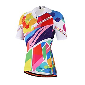 Unisex Short Sleeve Cycling Jersey Rainbow Bike Jersey Top Sweat-wicking Sports Coolmax Mountain Bike MTB Road Bike Cycling Clothing Apparel / Stretchy