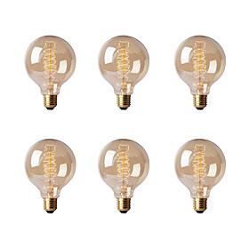 Ecolight™ 6pcs 40w E26/e27 G80 2300 K Incandescente Vintage Edison Lampadina Ca 220 240 V V