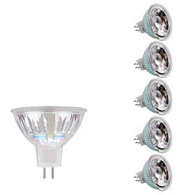 GMY 6pcs 3W 250lm GU5.3(MR16) LED Spotlight MR16 1 LED Beads COB Warm White Cold White 12V