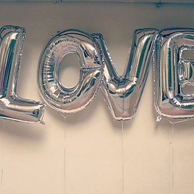 40inch L-O-V-E  4words Balloons Silver Beter Gifts Party Decoration 5938504