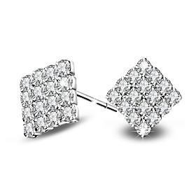 2017 Fashion 18K White Gold AAA Zircon Stud Earrings Wedding Jewelry For Women