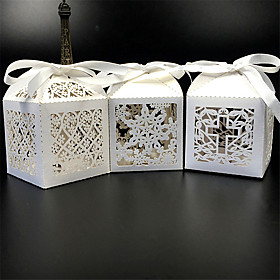 50pcs/lots lace snow cross wedding candy box party favors candy box wedding decoration 5624986