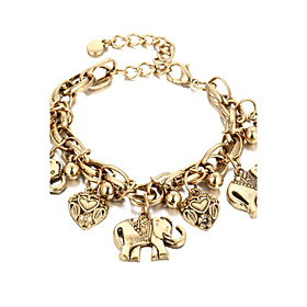 Bracelet ELephant Heart Chain Bracelet Alloy Heart Fashion Halloween Gift Je..