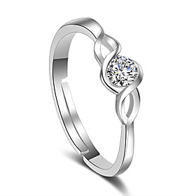 Ring Wedding Party Special Occasion Jewelry Platinum Plated Ring 1pc,Adjusta..