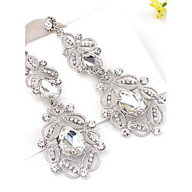 2 Colors Crystal Drop Earrings Jewelry Party Daily Casual Crystal Alloy 1 pair Multi Color
