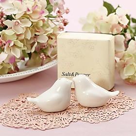 1Set Love Birds Ceramic Salt Pepper Shakers Wedding Favor Beter Gifts Wedding Favours