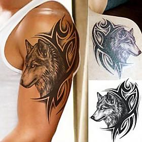 1 pcs Water Transfer Fake Tattoo Waterproof Temporary Tattoo Sticker Men Women Wolf Tattoo Flash Tattoo 5592621