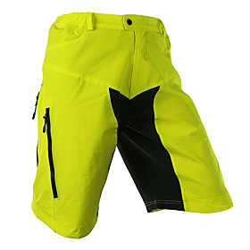 Arsuxeo Men's Cycling Shorts Bike Shorts / Baggy Shorts / MTB Shorts Breathable, Quick Dry, Anatomic Design Patchwork, Classic Polyester, Spandex Light Yellow