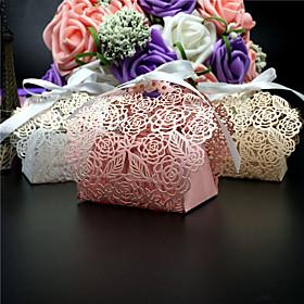 50pcs/lots flower wedding favor box laser cut candy box gift box wedding decoration event party supplies 5577503