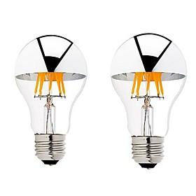2pcs 6 W 600 Lm B22 / E26 / E27 Ampoules A Filament Led 6 Perles Led Cob Intensite Reglable Blanc Chaud 220 240 V / 110 130 V / 2 Pieces / Rohs