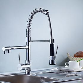 Kitchen faucet Single Handle One Hole Chrome Centerset Contemporary