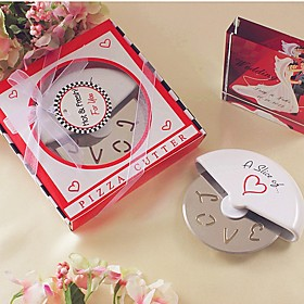 A Slice of Love Stainless Steel Pizza Cutter in Miniature Pizza Box Beter Gifts Life Style 5743829