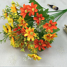 Artificial Flowers 1pcs Branch Polyester Daisies Tabletop Flower