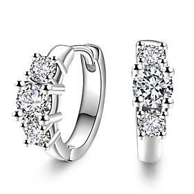 2017 Fashion Luxury 18K White Gold AAA Zircon Stud Earrings Wedding Jewelry ..