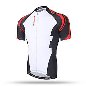 XINTOWN Men's Short Sleeves Cycling Jersey - Black/White Black/Red Black/Yellow Bike Quick Dry, Breathable, Sweat-wicking 5651093