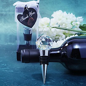Beter Gifts Recipient Gifts - Crystal Ball Design Wine Bottle Stopper Tea Party Souvenirs 5667177